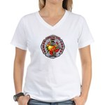 Riverside FD Engine 11 Women's V-Neck T-Shirt