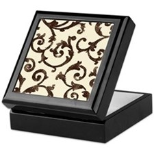 Wrought Iron Scrolls Keepsake Box