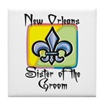 New Orleans Sister of the Groom Tile Coaster