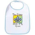 New Orleans Sister of the Groom Bib
