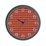 Green and Red Plaid Clock