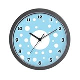 Blue Polka Dots Clock