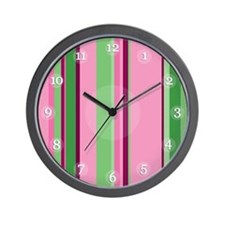 Watermelon Stripes Clock