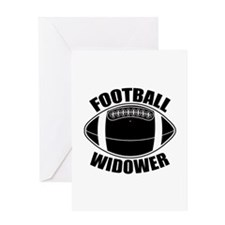 Football Widower Greeting Card
