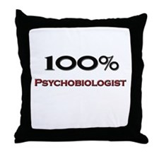 100 Percent Psychobiologist Throw Pillow