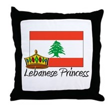 Lebanese Princess Throw Pillow