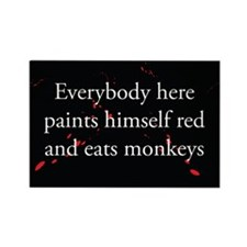 Monkey Eating Rectangle Magnet (10 pack)