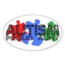 Autism - Proud Aunt Oval Decal