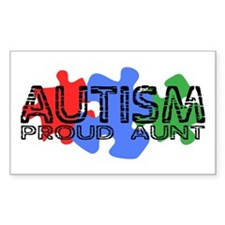 Autism - Proud Aunt Rectangle Decal