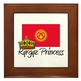 Kyrgyz Princess Framed Tile