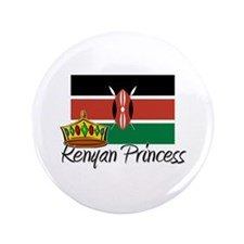 "Kenyan Princess 3.5"" Button"