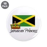 "Jamaican Princess 3.5"" Button (10 pack)"