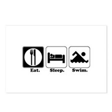 Eat. Sleep. Swim. Postcards (Package of 8)