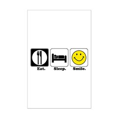 Eat. Sleep. Smile. Mini Poster Print