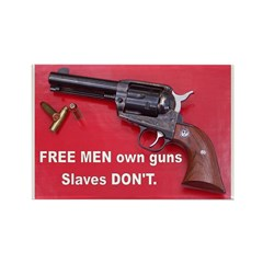 Free Men Own Guns Rectangle Magnet (100 pack)