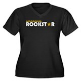 Geocaching Rockstar Women's Plus Size V-Neck Dark