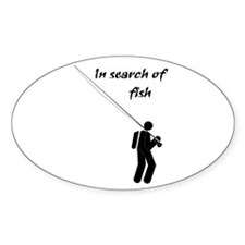 """In Search Of Fish"" Oval Decal"