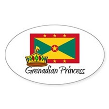 Grenadian Princess Oval Decal