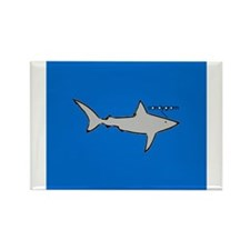 Land Shark Rectangle Magnet