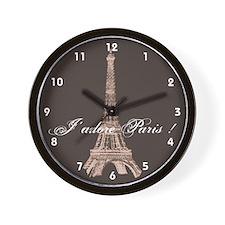 Paris Wall Clock - Eiffel Tower