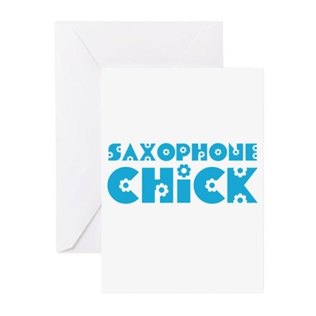 Saxophone Chick Greeting Cards (Pk of 10)