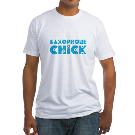Saxophone Chick Fitted T-Shirt