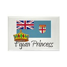 Fijian Princess Rectangle Magnet