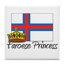 Faroese Princess Tile Coaster