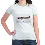 Supermarine Spitfire Aircraft Jr. Ringer T-Shirt