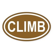 CLIMB Brown Euro Oval Decal
