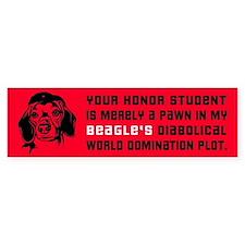 Beagle World Domination Bumper Bumper Sticker