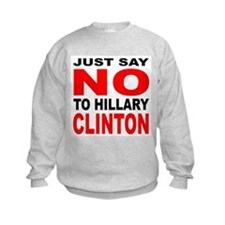 Anti-Hillary Clinton (Front) Sweatshirt