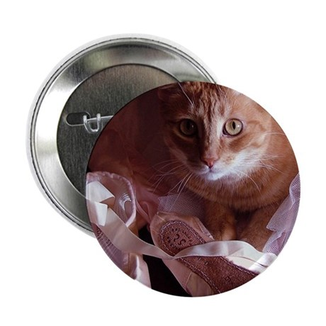 "Cat and Ballet Slippers 2.25"" Button"