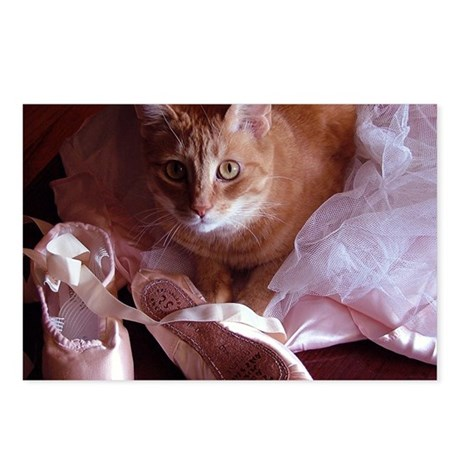Cat and Ballet Slippers Postcards (Package of 8)