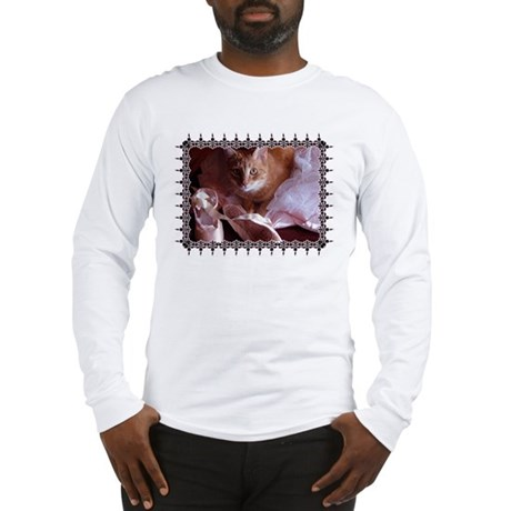 Cat and Ballet Slippers Long Sleeve T-Shirt