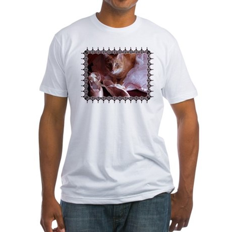 Cat and Ballet Slippers Fitted T-Shirt