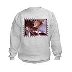 Cat and Ballet Slippers Kids Sweatshirt