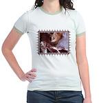 Cat and Ballet Slippers Jr. Ringer T-Shirt
