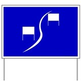 Blue Slalom Gate Yard Sign