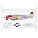 Republic Thunderbolt Aircraft Small Poster