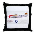 Republic Thunderbolt Aircraft Throw Pillow
