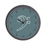 Seafoam Bass Cleff Wall Clock