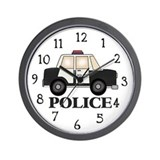 Police Car Wall Clock