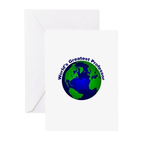World's Greatest Professor Greeting Cards (Pk of 1