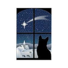 Silent Night Christmas Magnet