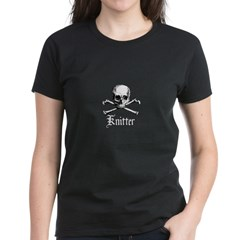 Knitter - Crafty Pirate Skull Women's Dark T-Shirt