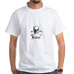 Knitter - Crafty Pirate Skull White T-Shirt