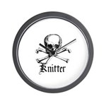 Knitter - Crafty Pirate Skull Wall Clock