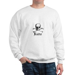 Knitter - Crafty Pirate Skull Sweatshirt