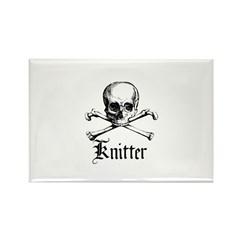 Knitter - Crafty Pirate Skull Rectangle Magnet